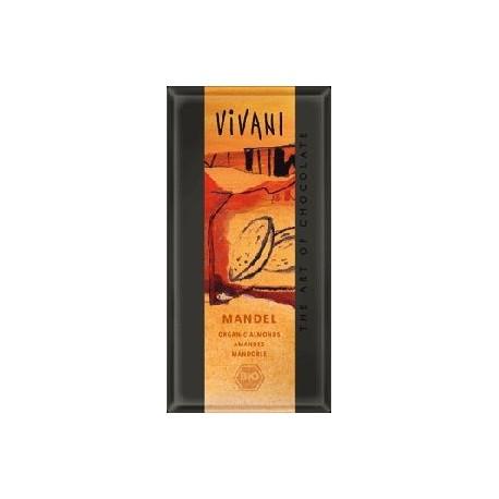 Čokoláda mléčná s mandlemi Bio Vivani
