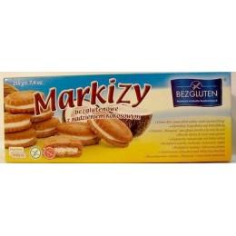 Bezlepkové sušenky markýzky s kokosovou náplní 200g Bezglut