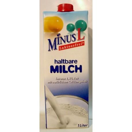 Bezlepkové mléko bez laktózy 1,5% tuku MINUSL