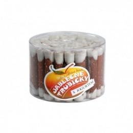 Jablečné trubičky s jogurtovou polevou 45ks.